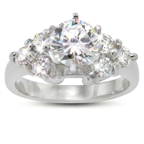 Lady's Diamond Engagement Ring - Rounds - .48ct.