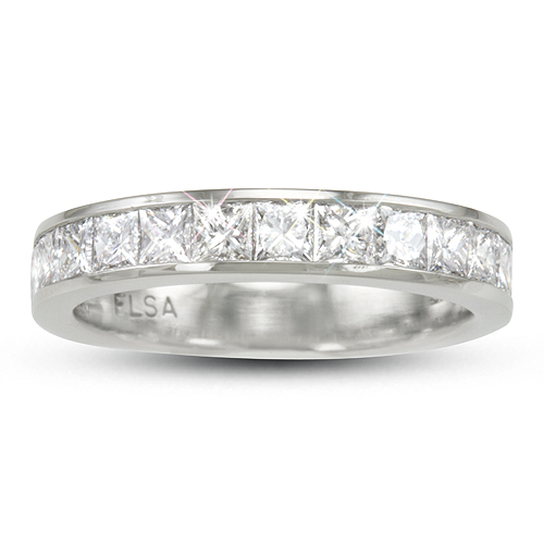 Lady's Diamond Wedding Ring - Channel - Princess Cuts - 1.40ct.