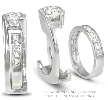 Magnificent Custom Diamond Wedding Set
