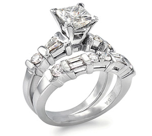 Channel Set Custom Diamond Engagement/Wedding Ring Set