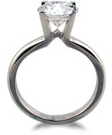Diamond rings with prong setting